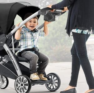 Chicco BravoFor2 sit-and-stand double stroller, Toddler sitting