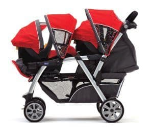 chicco double stroller - infant configuration
