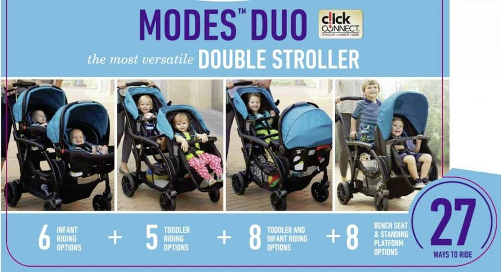 Graco Duo Modes - 27 different riding options toddler and baby