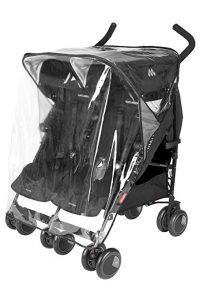 Maclaren double stroller raincover