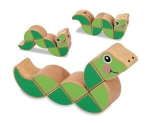 melissa and doug wriggling worm wooden toy