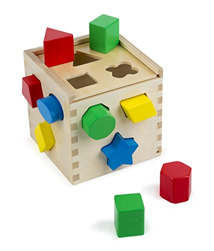 Wooden sorting cube (Melissa and Doug)