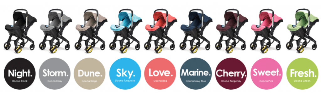 Doona infant stroller colours