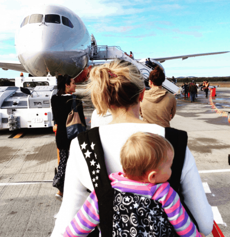 best tips for flying and traveling with baby newborn