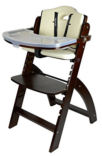 Abiie Beyond Wooden High Chair With Tray. The Perfect Adjustable Baby Highchair Solution For Your Babies and Toddlers or as a Dining Chair