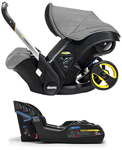 Doona Infant Car Seat & Latch Base - Storm (Grey) - US Version