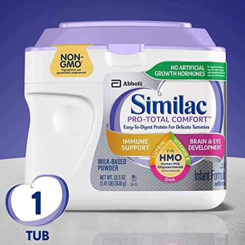 Similac Pro-Total Comfort Infant Formula, Non-GMO, Easy-to-Digest, Gentle Formula, with 2'-FL HMO, for Immune Support, Baby Formula, Powder, 22.5 Ounce (Pack of 1)
